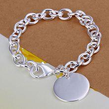 Fina del verano del estilo de plata chapada pulsera 925-sterling-silver joyería bijouterie cadena redonda pulseras para mujeres hombres SB270