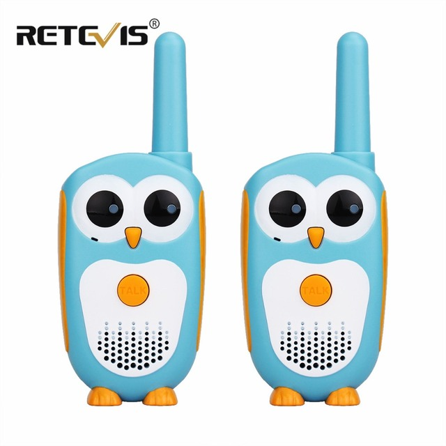 2 pcs Retevis RT30 Mini Owl Walkie Talkie Kids Toy Radio 0.5W 1CH UHF PMR PMR446/FRS Handy Two Way Radio Transceiver Child Gift