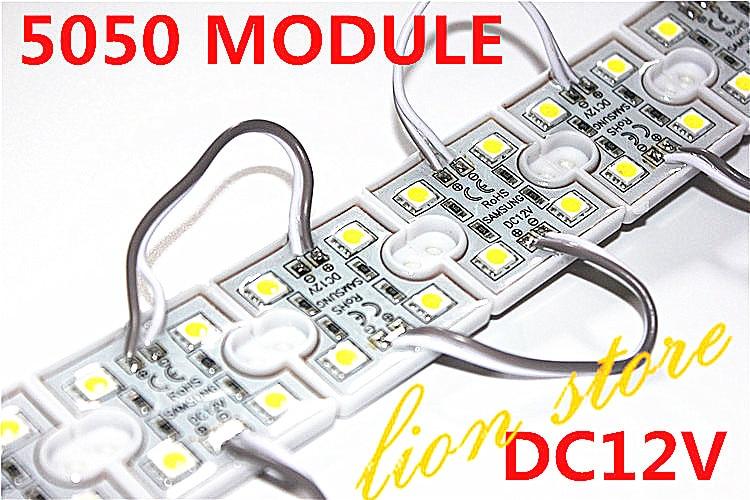 LED 5050 4 LED Module 12 V impermeabile quadrato ha condotto i moduli di illuminazione, 20 Pz/lottoLED 5050 4 LED Module 12 V impermeabile quadrato ha condotto i moduli di illuminazione, 20 Pz/lotto