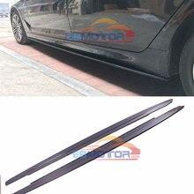 MP стиль Реальные углеродного волокна сбоку юбка расширения 1 пара для BMW 5 серии G30 M sport 2017UP B462