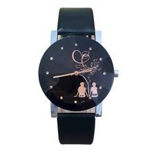 Студент пара Стильный Лидер продаж Мода Для мужчин Для женщин мода любовника Винтажные часы