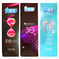 84 Pcs/set 10 Styles design Thread Dotted Condoms for Men Slim 002 Ultra Thin Safer Sex Products Condoms for Men