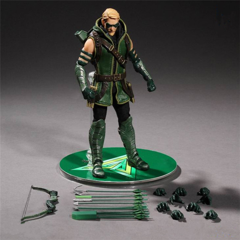 6 Cloth Green Arrow Oliver Quinn Action Figure Manually Equipment Changed Comics Lover PVC Super Hero Collection Model Toy N147 green arrow canary vol 03