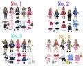 Партия 17 предметов = 5 комплектов одежды для кукол + 5 пар туфель + 5 сумок + 2 пары носков для 18 дюймовых американских кукол  повседневная одежда...