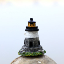 Lighthouse European Castle Miniature Fairy Garden Home Houses Decorati