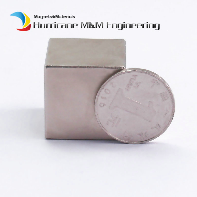 1 Pack N42 NdFeB Block 25x25x25 (+/-0.1)mm Iron Filter Magnet Bar Strong Neodymium Permanent Magnets Rare Earth Lifting Magnets 2pcs d22 200mm 10000 gauss strong neodymium magnet bar iron material removal
