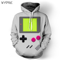 Winter Autumn Season Loose Couples Sweater 3D Digital Printed Polyester Long Sleeve Hooded Pullover For Man