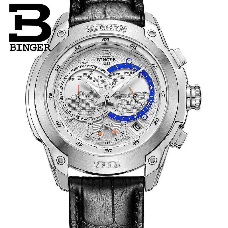 Szwajcaria zegarki mężczyźni luksusowa marka Zegarek na rękę - Męskie zegarki - Zdjęcie 4