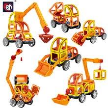 BD 60pcs/Set Big Size Magnetic Blocks Contructor DIY Magnets Building Blocks Educational Designer Block Toys For Children Gifts