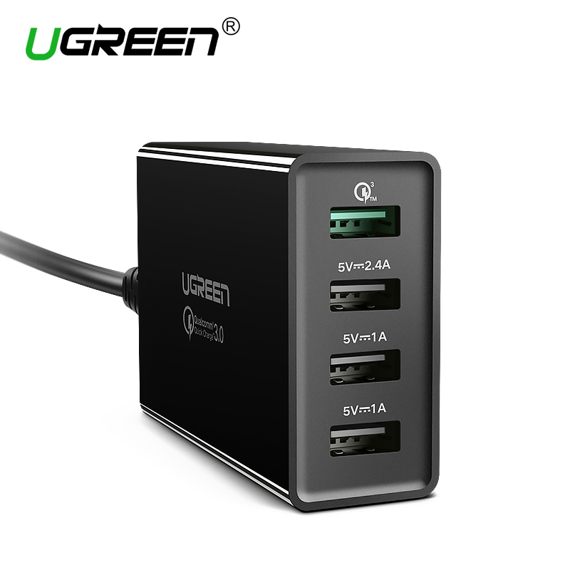 Ugreen 34 watt USB Ladegerät Schnell Ladung 3,0 Schnelle Handy Ladegerät für iPhone Samsung Xiaomi Nexus Tablet 4 Port desktop Ladegerät