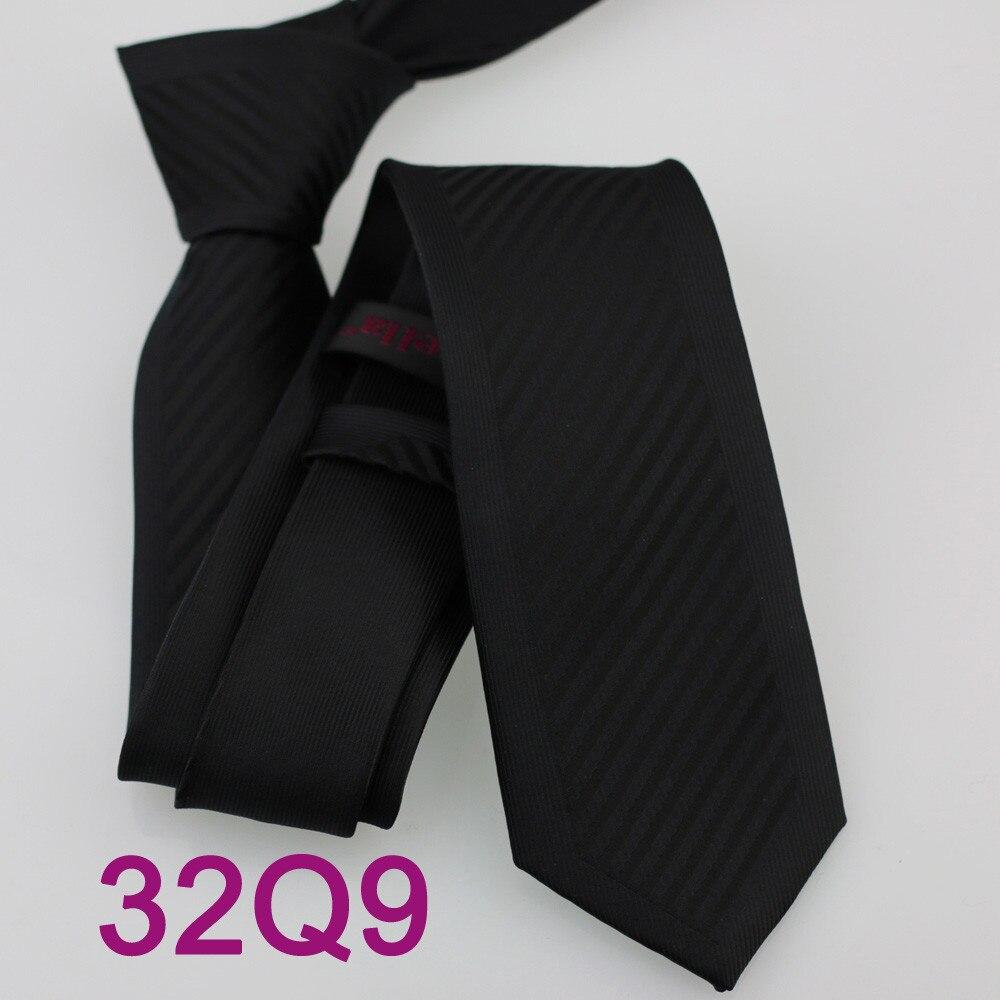 Yibei Coachella жаккардовые черный Для мужчин Галстуки диагональные полосы Gravatas masculinas Slim границы Тощий Узкие corbatas Седа