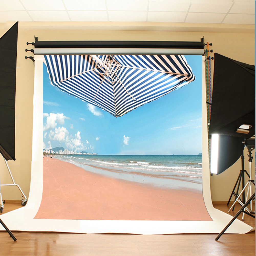 Wedding Photography Backdrops Blue Sky and White Clouds Photocall for Wedding Sea Beach Sun Umbrella Backdrop Photo Studio commercial sea inflatable blue water slide with pool and arch for kids