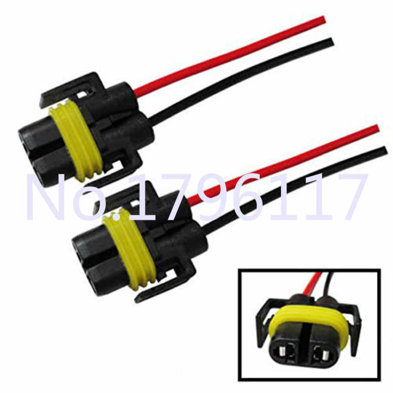 2x H8 H9 H11 880 881 H27 Universal Car Headlight Bulb Adapter Car Auto LED Xenon Lamp Wiring Harness Adapter Sockets Plug