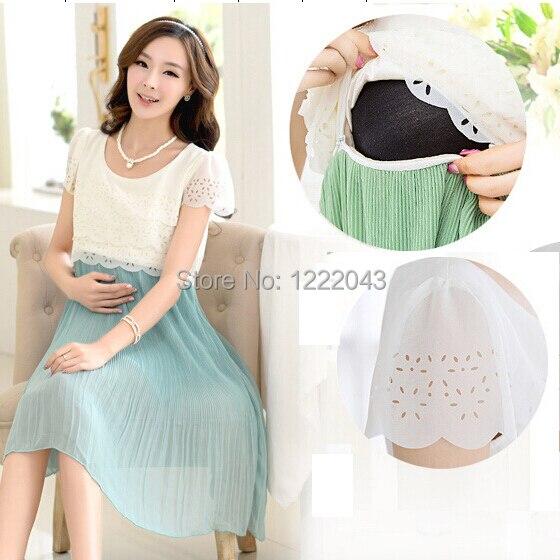 Maternity Nursing Dress For Pregnant Women Clothing 2017 Summer Fashion Chiffon Breastfeeding Skirt Pregnancy Clothes Lactation