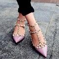 Primavera outono sapatos moda mulher sapatos elegantes com double alças de couro sapatos baixos patente partido e diárias sapatos baixos