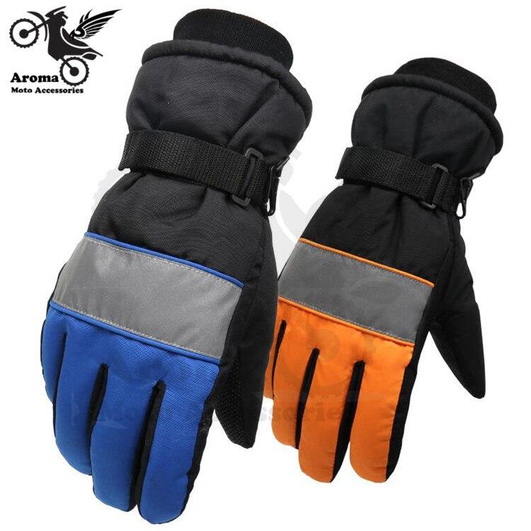 blue orange universal men women waterproof anti snow skiing glove outdoor sport riding motorcycle golves moto hand protection