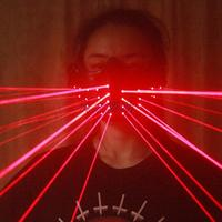 Free Shipping LED Laser Mask Red Lighting Birthday LED Masks For Show Stage Party Rechargable Battery