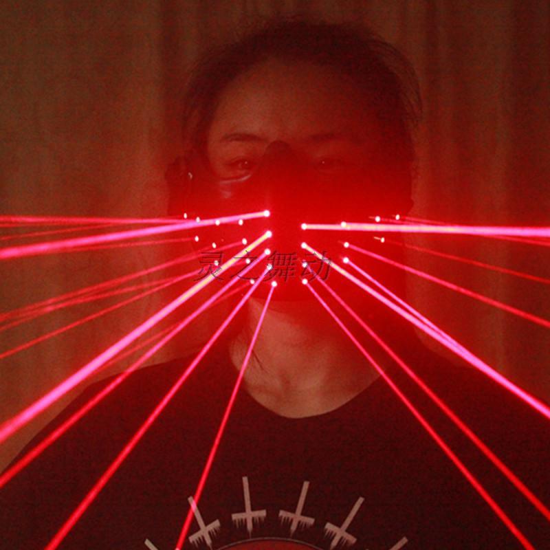 Envío gratis LED Máscara láser Iluminación roja Cumpleaños LED - Para fiestas y celebraciones