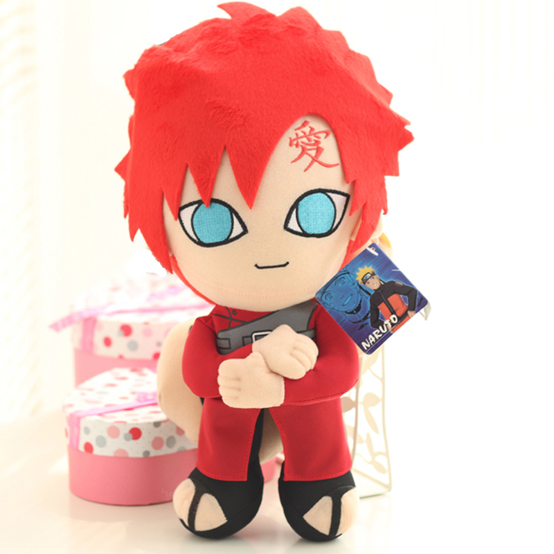 30cm Anime Naruto Gaara Plush Toys Gaara Plush Doll Soft Stuffed Toys Figures Toy for Kids Children Birthday Gift With Tag 30cm cute korea pororo little penguin plush toys doll pororo with glasses plush soft stuffed animals toys for children kids gift