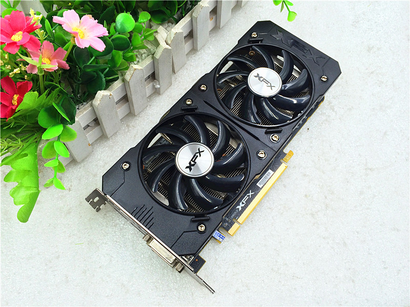R9 370 4GD5 graphics card used original for XFX R9 370 4G DDR5 256BIT DVI HDMI Mini DP