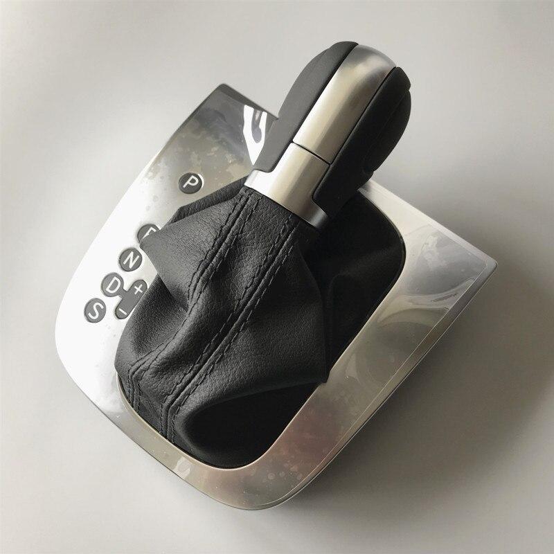 Кожаный черный или красный линии шить на DSG рукоятка для рычага переключения передач крышка для VW Golf 6 MK6 G Футболка Я Jetta MK6 Jetta GLI
