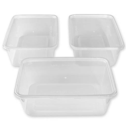 50 Pcs Heated Containers BPA free Food grade Plastic Food Storage