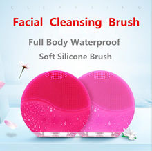Electric Facial Cleansing Brush Silicone Sonic Vibration Mini Cleaner Deep Pore Cleaning Skin Massage face brush cleansing(China)