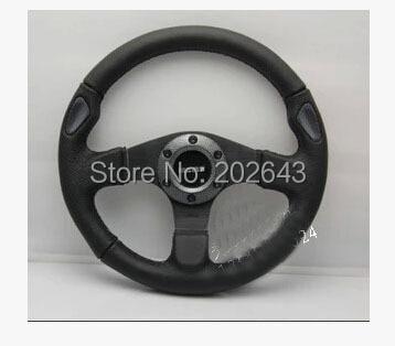 Спортивный руль с ПВХ + кожа 13 дюймов 320 мм Универсальный Для Kia Rio VW Golf 4 колеса спортивный руль руль