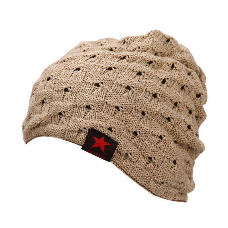 Beanies Knit Men's Hat Winter Caps Skullies Bonnet Beanie Fur Warm Baggy Wool Knitted Hat skullies