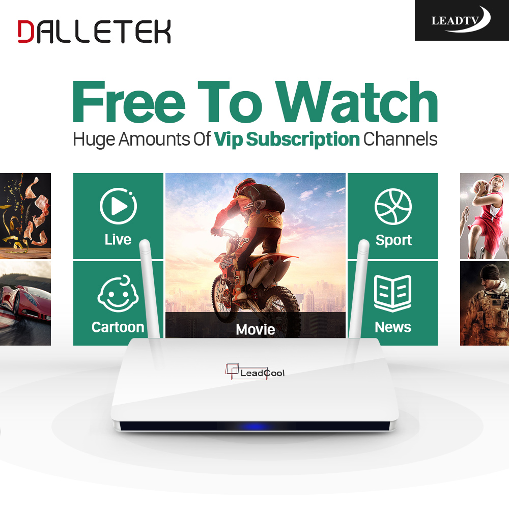 Dalletektv Arabic IPTV Box Leadcool Android TV Box 1 Year Code IPTV Subscription Channels Europe French Turkish IPTV Top Box leadcool android tv box with iptv subscription 1 year iudtv 2000 iptv channels europe french arabic albania spain sweden iptv
