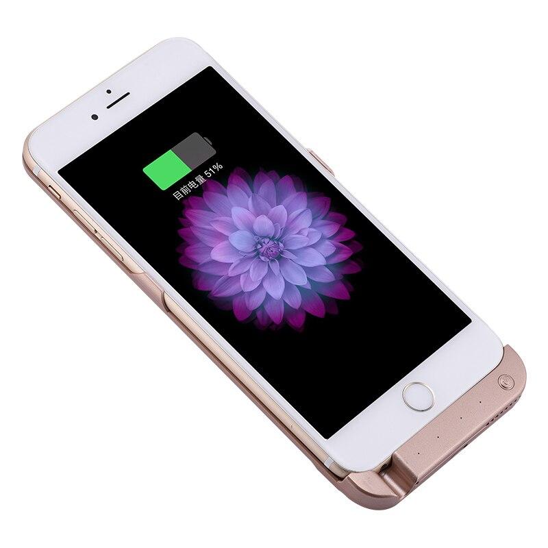 imágenes para 4200 Mah Nueva Batería Externa Portable Caso Para iPhone6 6 S plus caso banco de la energía del cargador de batería para iphone 6 plus de repuesto caso