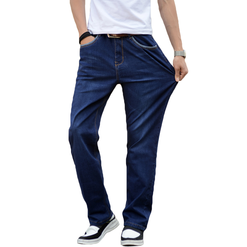 New Summer Men's Thin Jeans Straight Loose Elastic Cotton Trousers Male Jeans Pants Brand Jeans  Male Denim Slim Pants Classic