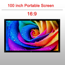 CAIWEI outdoor movie screen for led dlp projector portable screen 100 inch for home cinema Office business projector curtain