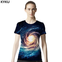 Galaxy Shirt Space T Shirt Women Short Sleeve 3d T-shirts Print Nebula T-shirt Fashion Brand Clothing Summer   top     Tees   Cool Sim