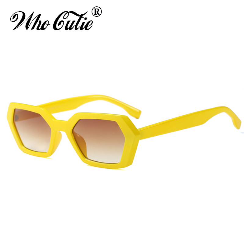 806d4be91b7 Detail Feedback Questions about WHO CUTIE 2018 Vintage Hexagon Sunglasses  Men Women Brand Designer Polygon Frame Yellow Lens Female Sun Glasses Retro  Shades ...