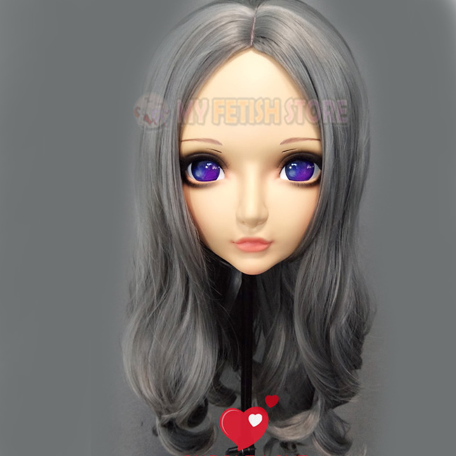 Costumes & Accessories xiaozhi-2 female Sweet Girl Resin Half Head Kigurumi Mask With Bjd Eyes Cosplay Japanese Anime Role Lolita Mask Crossdress Doll Bringing More Convenience To The People In Their Daily Life