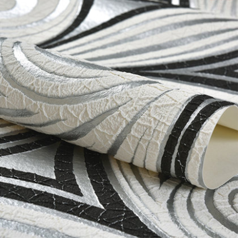 Moderne Abstrakte Kunst Tapete 3D Beflockung Vlies Verdicken Wohnzimmer TV Schlafzimmer Wand Papier Rolle Für Wände 3 D Papel De Parede