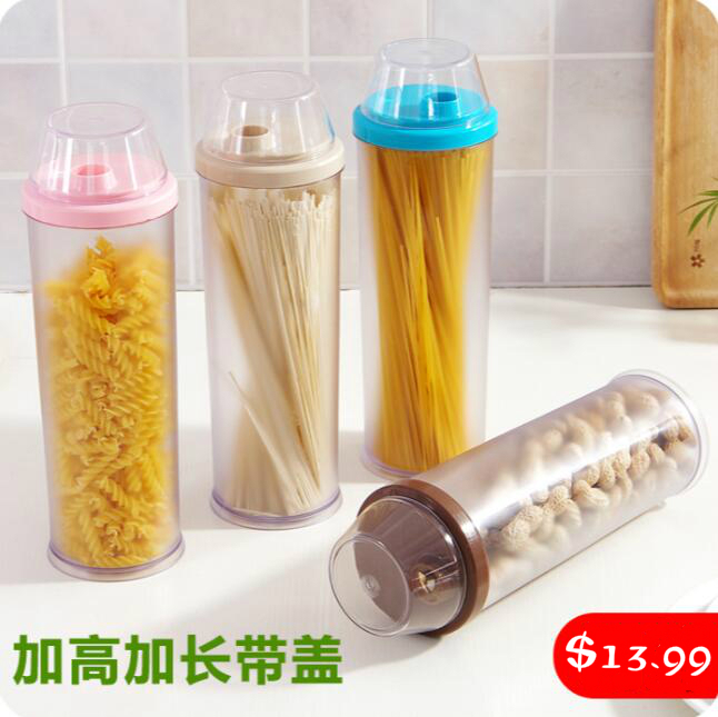 Kitchen Storage Canister Food Organizer With Cover Transparent Storage Jar  Noodles Grains Storage Bottles
