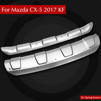 Car Front Rear Bumpers Exterior Strips Guard Stainless Steel Moulding Protective For Mazda CX5 CX 5 2017 2018 KF