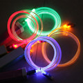 1m Luminous Glowing Cable Micro USB Cable Sync Data LED Light Charging Cable For Samsung Galaxy S3 S4 S6 S7 Edge For Android