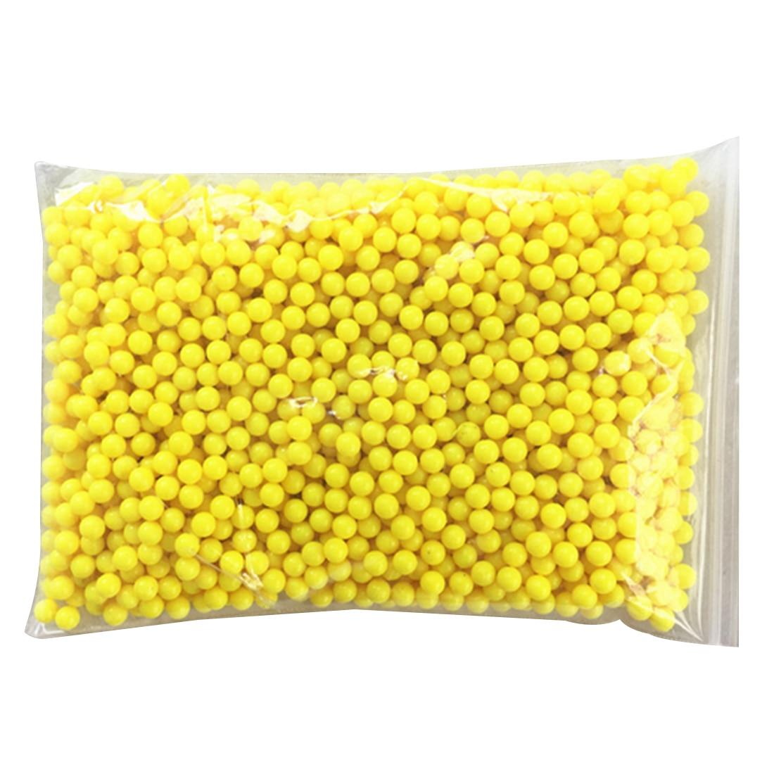 NFSTRIKE 2000 pcs En Plastique 6mm Forme De Boule En Plastique BB Balles Pour Fusils Jouets Pistolet Pneumatique Arme Pour Le Tir Extérieur -jaune