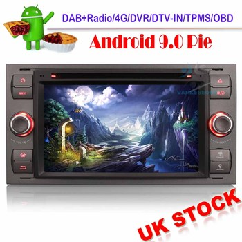 7Android 9.0 Autoradio Car stereo GPS DAB+ 4G NAVI DVD Bluetooth For Ford Focus Kuga Mondeo Fiesta Fusion Car Multimedia image