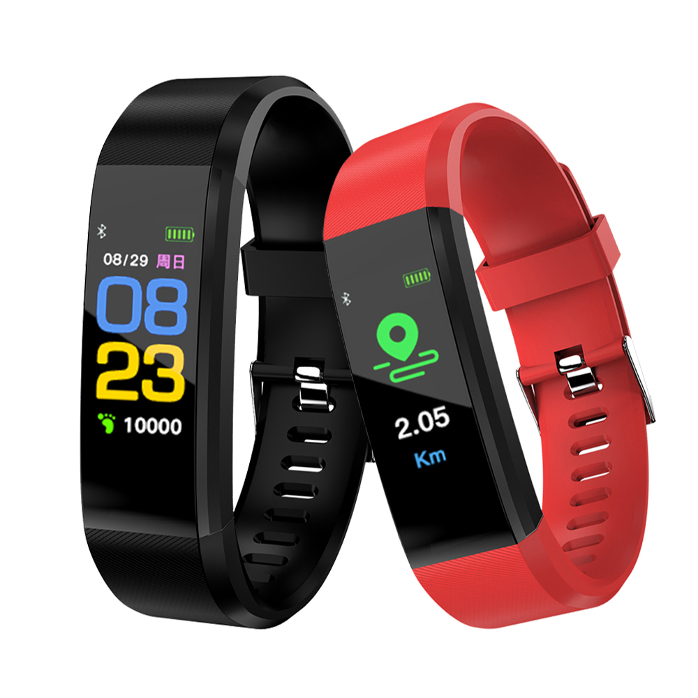 115 plus Smart Fitness Bracelet ip68 Waterproof Fitness Sport Tracker Wristbands Blood Pressure Measurement Heart Rate Monitor-in Smart Wristbands from Consumer Electronics