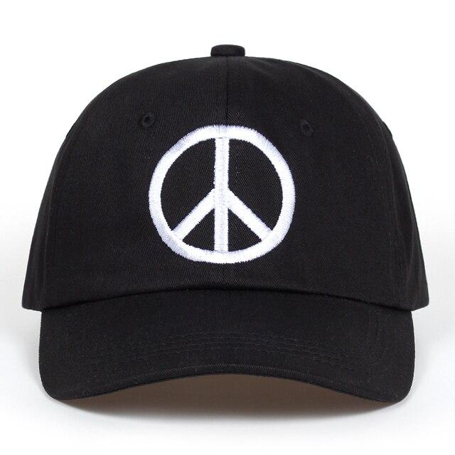 peace logo Baseball Cap for Men Women Snapback Cotton dad hat Brand 6 Panel  Embroidery Hip Hop Dad Hat Bone Garros 01a46452993