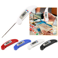 1Pcs Ultra Instant Read Foldable BBQ Thermometer LCD Digital Cooking Thermometer Auto Off Probe Mini Folding