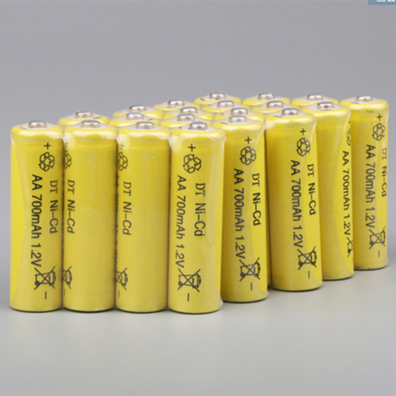 20 x AA 700mAh 1.2 V Quanlity Rechargeable Battery NI-CD 1.2V Rechargeable 2A Battery Baterias Bateria Batteries 500 Times