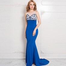 Neuheit Blau/Weiß Patchwork Floral Muster O-ansatz Behälter-sleeveless Bodenlangen Damen Club Kleider Sexy Abendgesellschaft Kleid