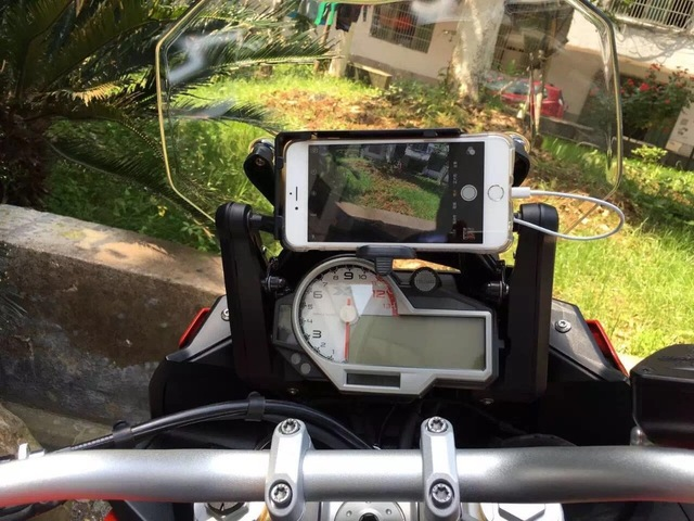 mobile phone Navigation bracket USB phone charging for BMW S1000R S1000XR S1000RR 15-17
