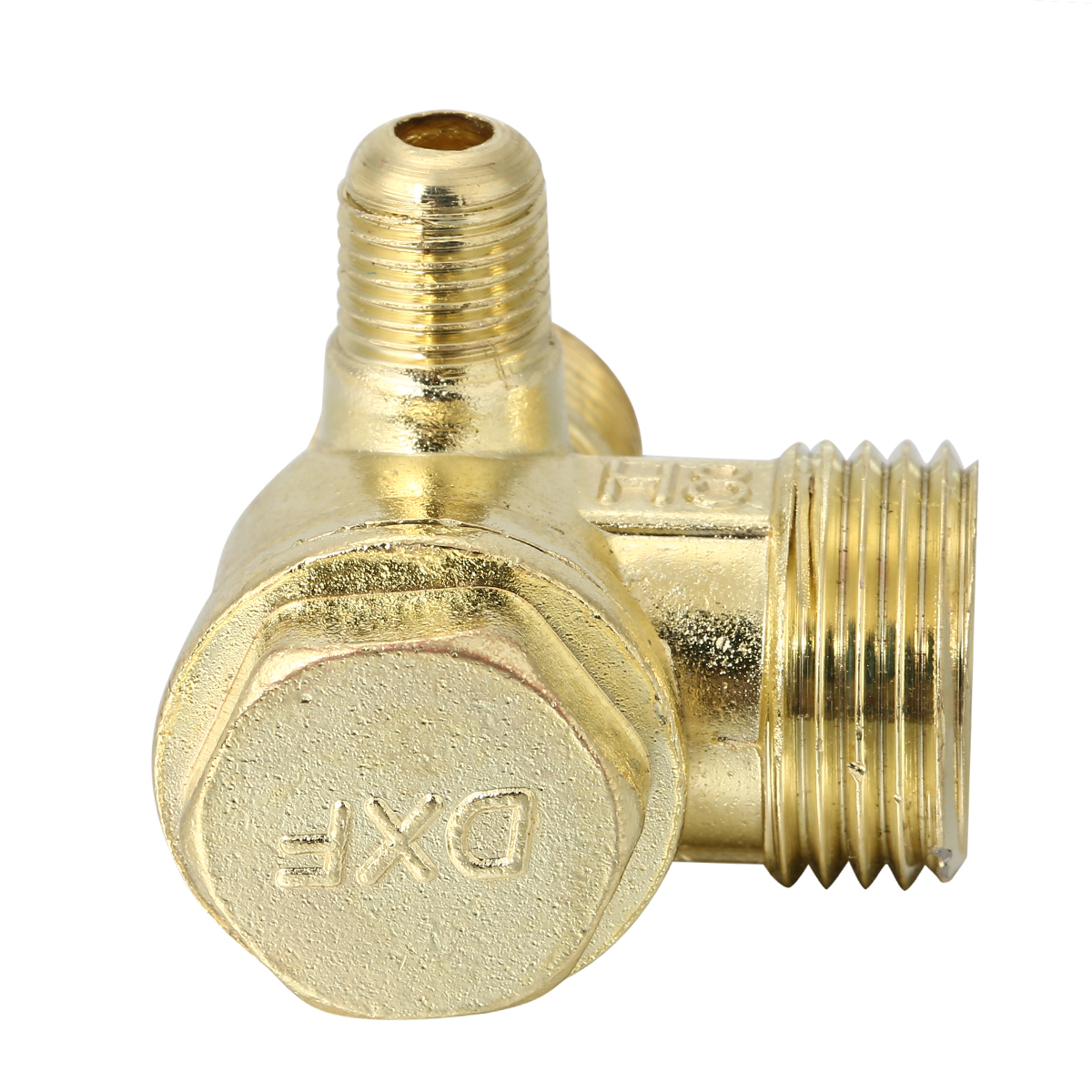 1pc 3 Port Aluminum Alloy Check Valve Male Thread Cast Iron Check Valve Connector Tool For Air Compressor