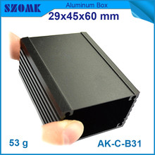 10 pieces a lot, anodizing aluminum housing enclosure black junction housing 29*46*90mm